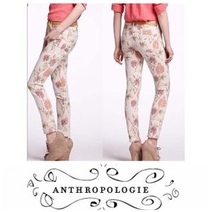 Anthropologie Pilcro and Letterpress Floral Jeans